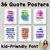 Quote Posters to Encourage and Inspire {36 Signs in Watercolor, Print Font}
