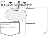 Quote Reflection/Analysis