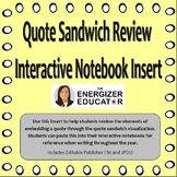 Quote Sandwich Interactive Notebook Insert