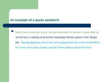 Quote Sandwich PPT