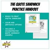 Quote Sandwich Practice Handout