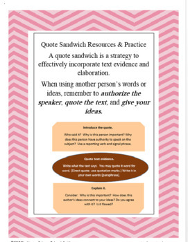 Quote Sandwich Resources & Practice