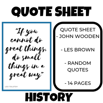 Quote Sheet