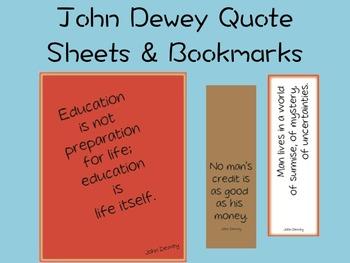 Quote Sheets: John Dewey