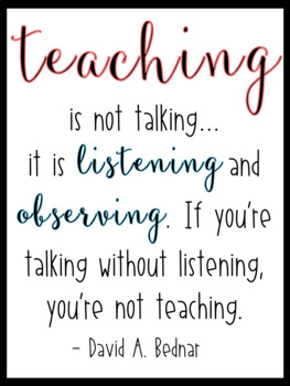 Quote for Classroom - Teaching