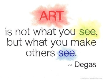 Quote for inspiration about art and creativity