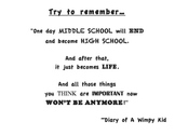 """Quote from """"Diary of a Wimpy Kid"""""""