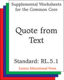 Quote from Text (CCSS RL.5.1)