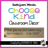 Quote from Wonder Classroom Decor