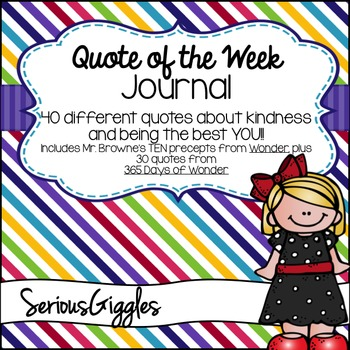 Quote of Week Journal from Wonder