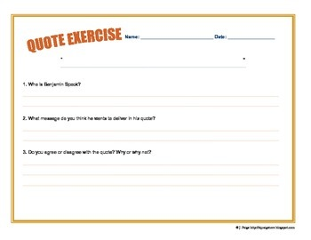Quote of the Day Exercise