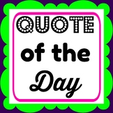 Quote of the Day Poster with Speech Bubbles
