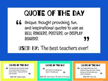 QUOTE OF THE DAY (or) WEEK: Posters and Presentation!