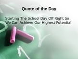 Quote of the Day Powerpoint