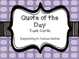 Quote of the Day Task Cards
