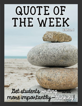 Quote of the Week: Edition 1