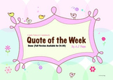 Quote of the Week + 2 Activity Sheets FREE
