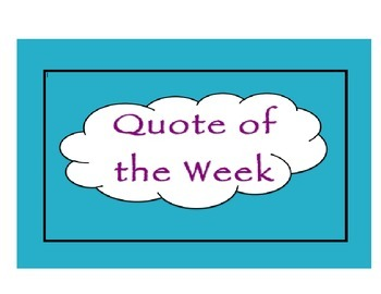Quote of the Week - A Year Worth of Motivation