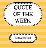 Quote of the Week - A quote for every week of the school year!