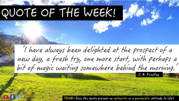 Quote of the Week! Including Differentiated Independent Activities.