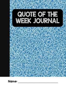 Quote of the Week Journal