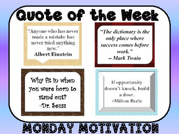 Quote of the Week/Motivational Monday