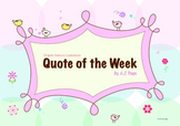 Quote of the Week Posters + Inference Activity Sheets