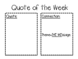 Quote of the Week Template