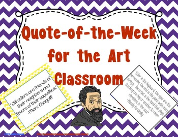Quote of the Week for the Art Classroom - Chevron & Black and White