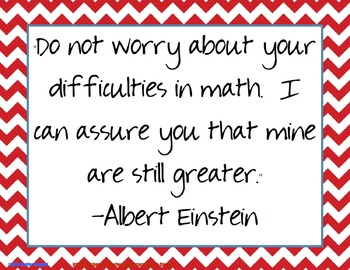 Quote of the Week for the Math Classroom (Chevron & Black & White)