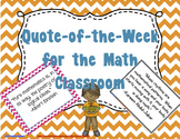Quote of the Week for the Math Classroom (Chevron & Black
