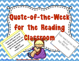 Quote of the Week for the Reading Classroom (Chevron & Bla
