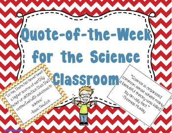 Quote of the Week for the Science Classroom (Chevron & Black & White)