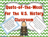 Quote of the Week for the U.S. History Classroom - 42 Pres