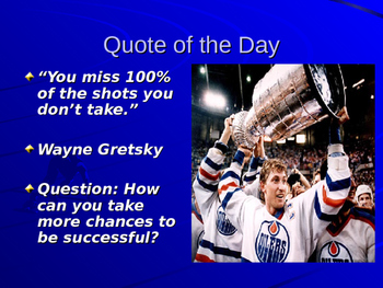 Quote of the day ppt. with questions