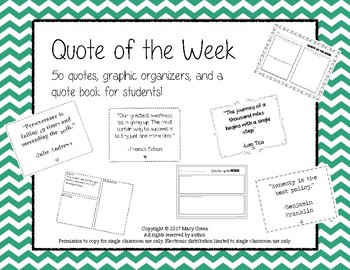 Quote of the week and Quote Book