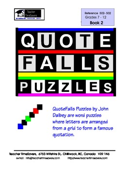 QuoteFalls  Word games and puzzles: Quote Falls Book 2