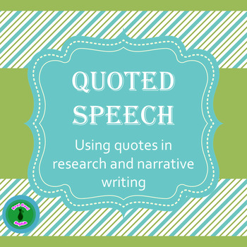 Quoted Speech PowerPoint and Task Cards