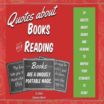 Quotes About Books and Reading, Set A: Posters (Chalkboard Theme)