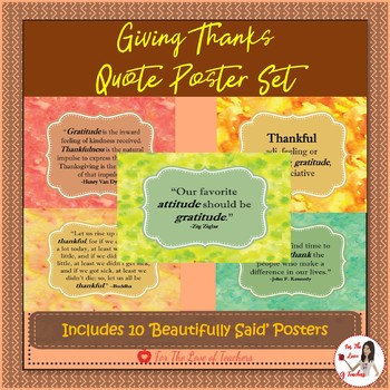 Giving Thanks Poster Set