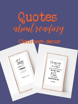 Quotes About Reading - Inspirational Quotes - Classroom Wall Decor - Printables