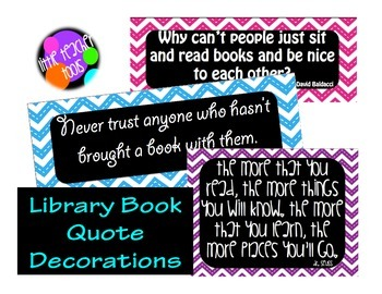 Quotes About Reading Posters Freebie