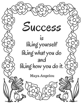 Coloring Page Maya Angelou. Coloring Pages for Teachers  Maya Angelou by Wise Words TpT