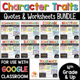Character Traits Quotes Posters MEGA BUNDLE with Growth Mindset