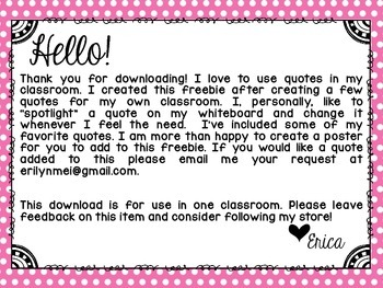 Quotes In The Classroom {A Growing Collection!}
