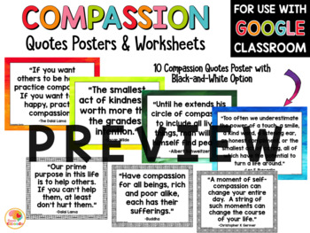 Compassion Quotes Posters and Activities