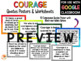 Growth Mindset - Courage Quotes Posters and Activities