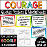 Growth Mindset - Courage Quotes Posters and Printables