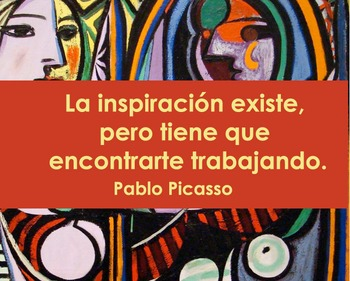 Quotes- Picasso in Spanish- Free!