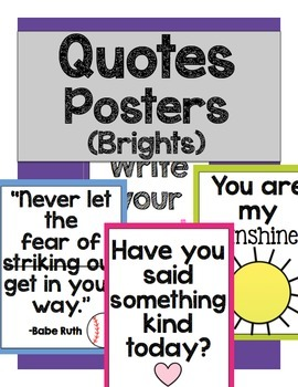 Quotes Posters: Brights